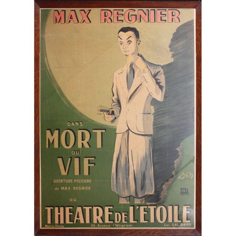 Mort Ou Vif: Very Rare Poster Mort Ou Vif 1949 At 1stdibs