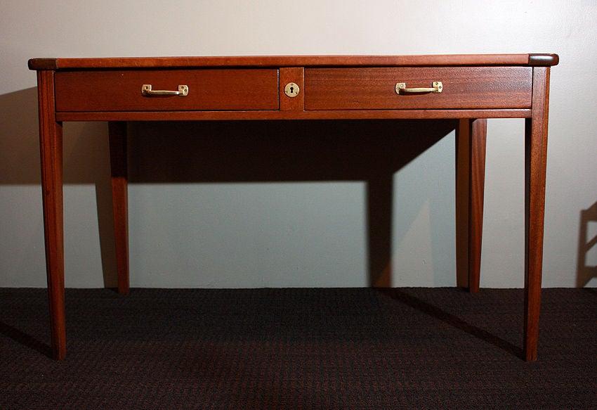 French Eugene Printz, 1932 Art Deco Mahogany Desk For Sale