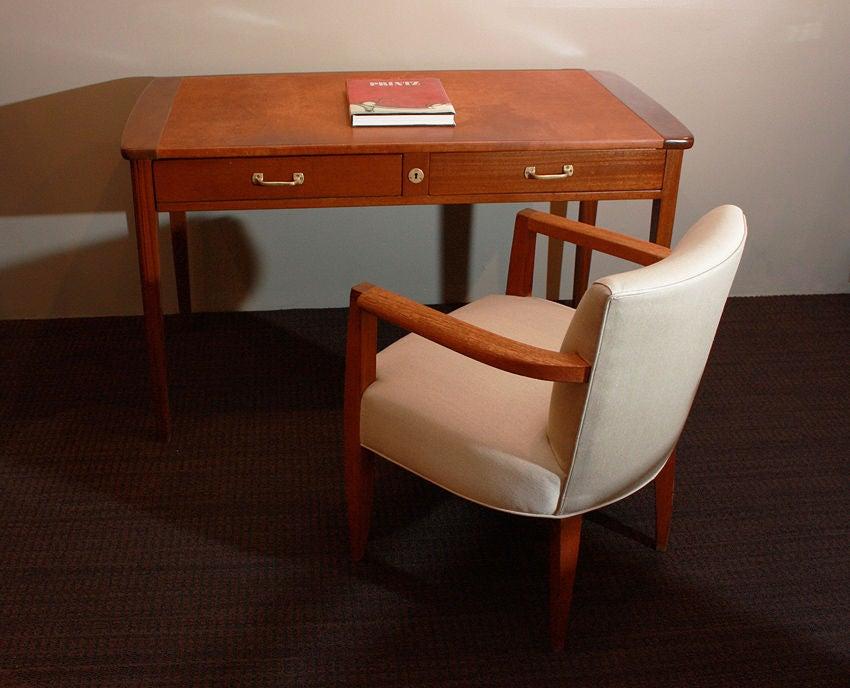 Mid-20th Century Eugene Printz, 1932 Art Deco Mahogany Desk For Sale