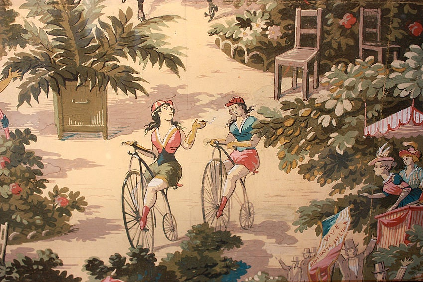 Moulin Rouge - French CanCan Watercolor Paris 1899 In Good Condition For Sale In Encino, CA