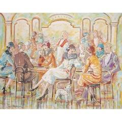 CALARCO: Art Deco Style Painting Scene in Carlton