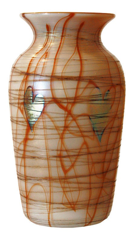 STEUBEN: Glass Vase - AURENE Glass For Sale