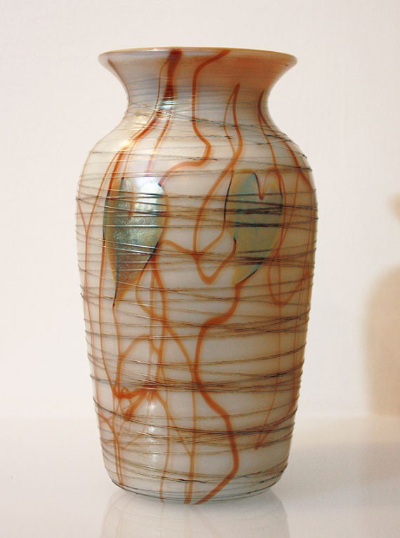 American STEUBEN: Glass Vase - AURENE Glass For Sale