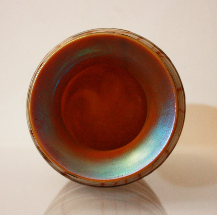 20th Century STEUBEN: Glass Vase - AURENE Glass For Sale