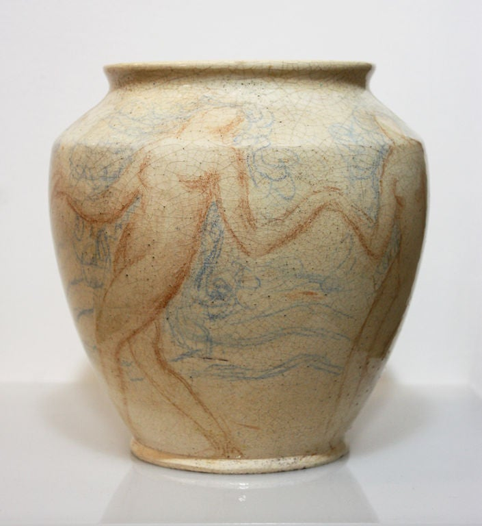 French Art Deco ceramic by Lachenal, piece unique