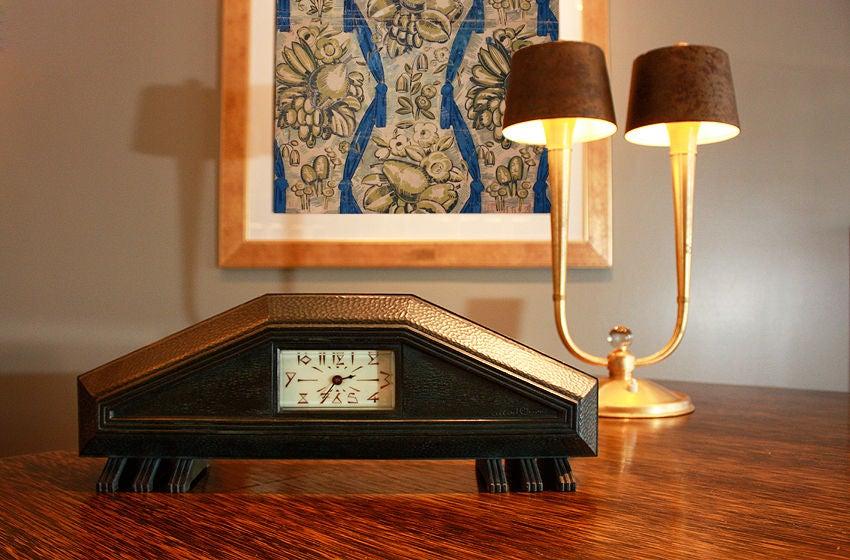Very Rare 1925 Art Deco Clock By Albert Cheuret At 1stdibs
