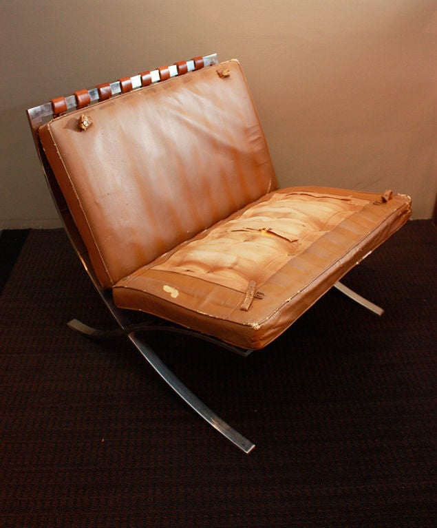 Vintage Barcelona Chair 1940 For Sale 4