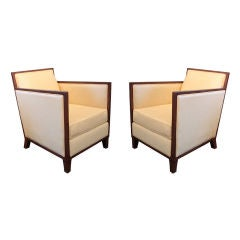 Pair of Art Deco Chairs - DOMINIQUE 1930