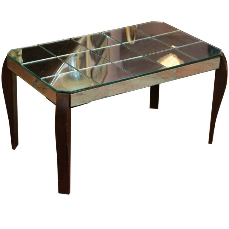 French mirrored coffee table at 1stdibs for Mirrored coffee tables