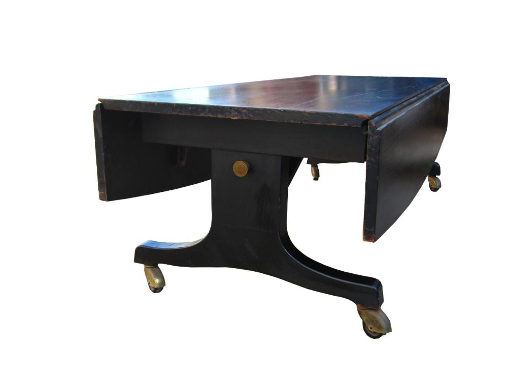 1940 u0026 39 s adjustable mahogany dining  coffee table in casters