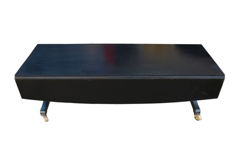 1940 39 s adjustable mahogany dining coffee table in casters
