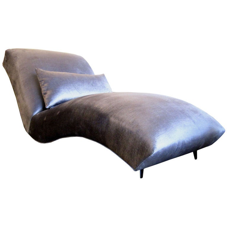 1950 39 s scultptural floating chaise lounge at 1stdibs for 1950 chaise lounge