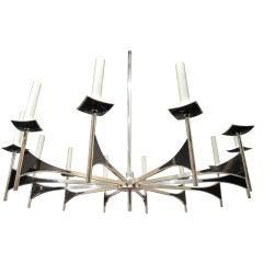 A 12 Arm Sculptural Chandelier by Lightolier