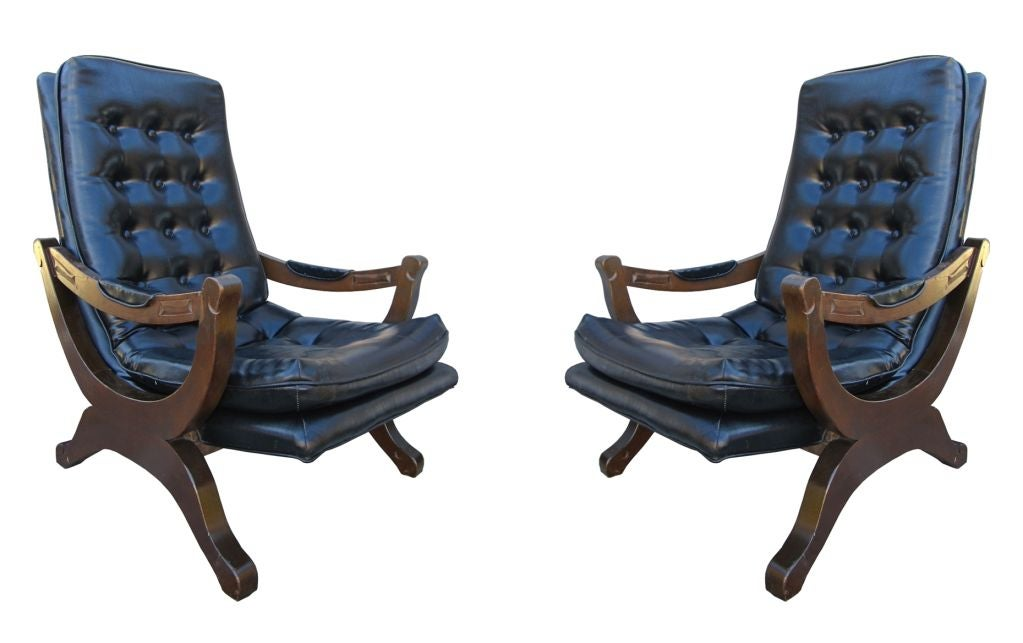 Pair Of Colonial Style Spanish Armchairs At 1stdibs