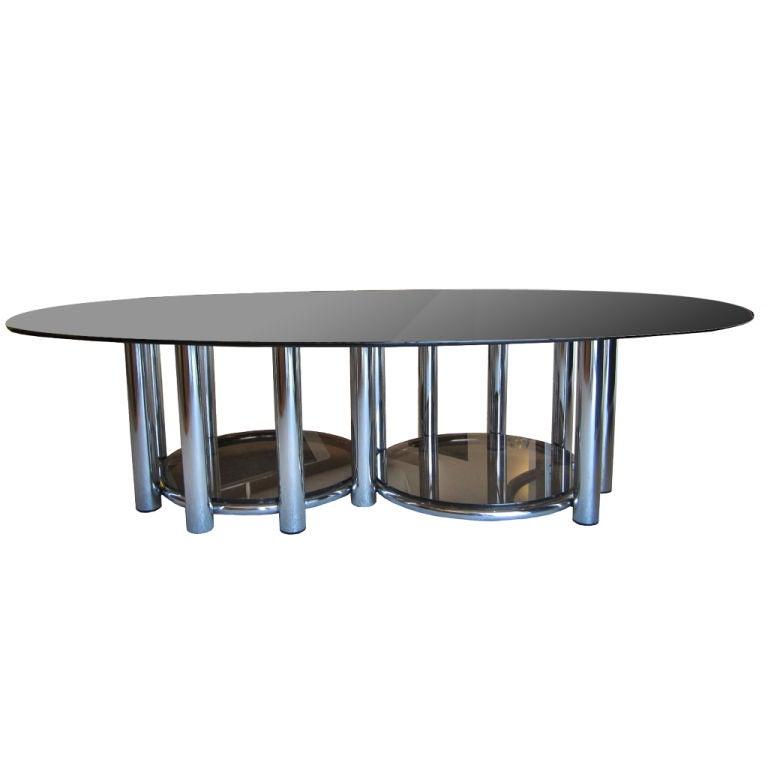 Tubular Chrome Coffee Table: Tubular Chrome Coffee Table At 1stdibs