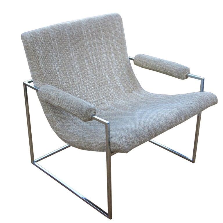 Rare Milo Baughman Lounge Chair at 1stdibs