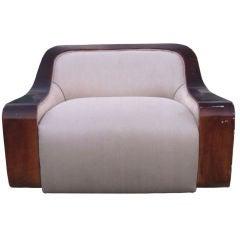 Stunning Art Deco Swivel Armchair