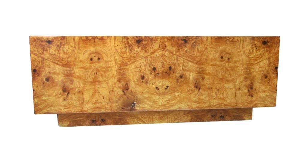 1960s Burl Wood Square Coffee Table By Milo Baughman at 1stdibs