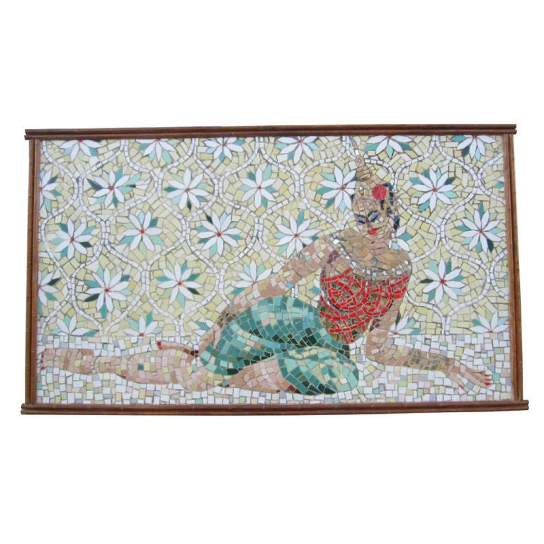 """Mosaic Art by Bonnie Jean Malcolm """"Cambodian Dancer At Rest"""""""