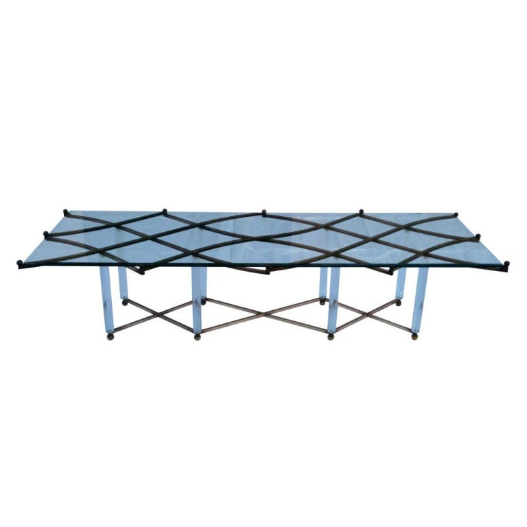 Lattice Post Table By Charles Hollis Jones Signed And Dated For Sale At 1stdibs