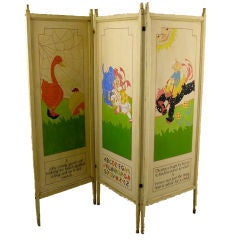Nursery Rhymes Hand-Painted Screen