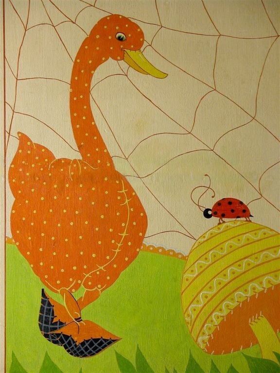 Nursery Rhymes Hand-Painted Screen 2