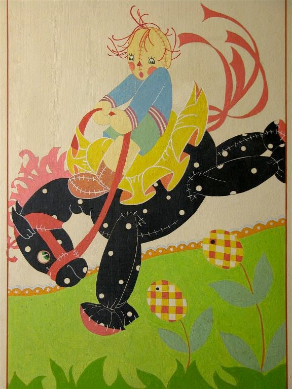 Nursery Rhymes Hand-Painted Screen 6