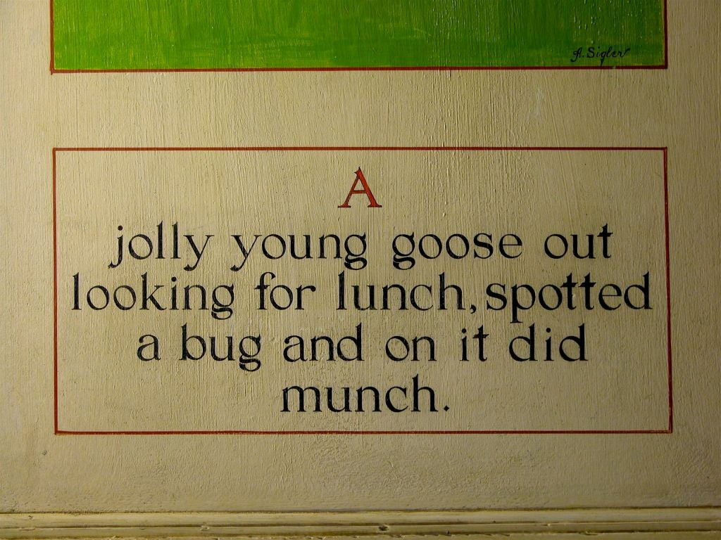 Nursery Rhymes Hand-Painted Screen 3
