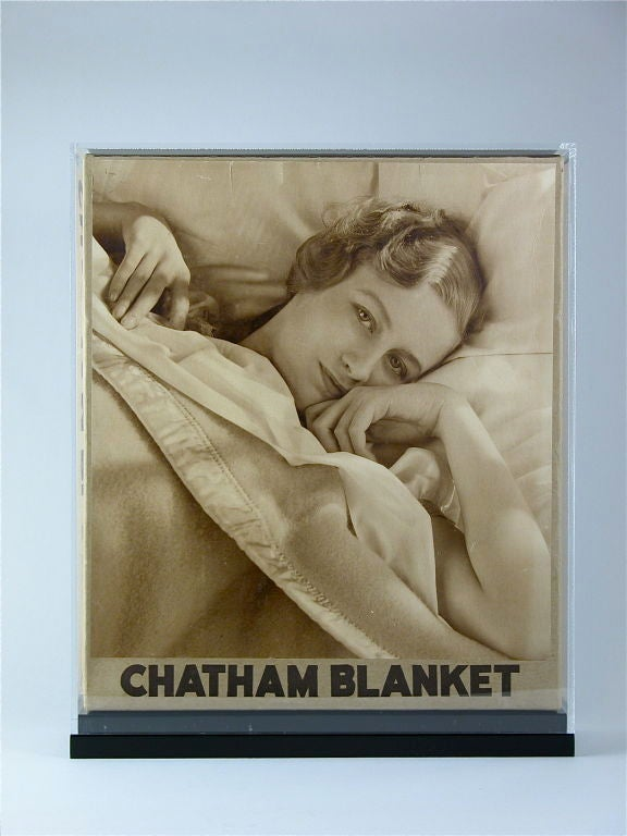 An unusual example of 1930s package design made for Chatham Blankets.