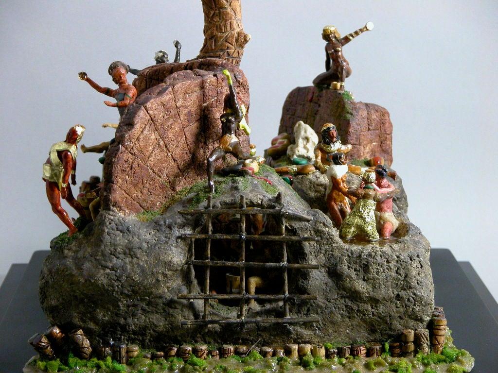 Molded Caribbean Island Fantasy For Sale