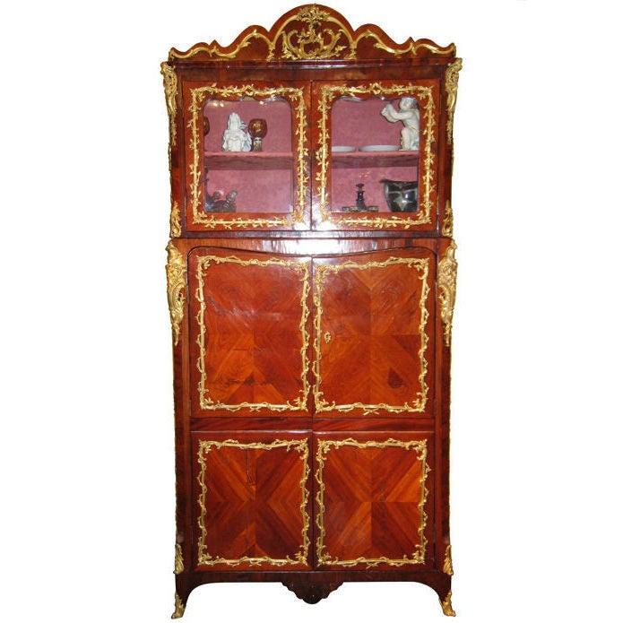 Louis XVI Ormolu Bronze-Mounted Rosewood Cabinet