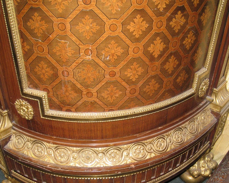 Very Important Palace Size Louis XVI Style Marquetry Parquetry Tall Commode 9