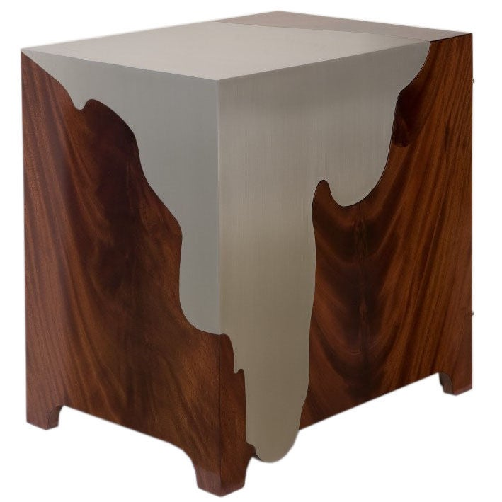 chevet bedside table by maria pergay at 1stdibs. Black Bedroom Furniture Sets. Home Design Ideas