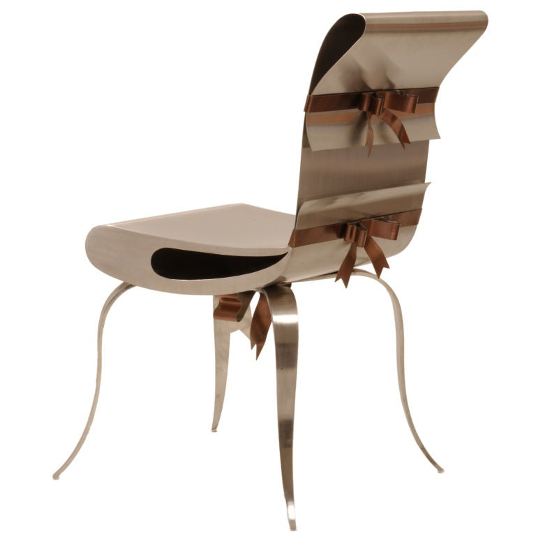 Commetal Chair Design : Ribbon Chair by Maria Pergay at 1stdibs