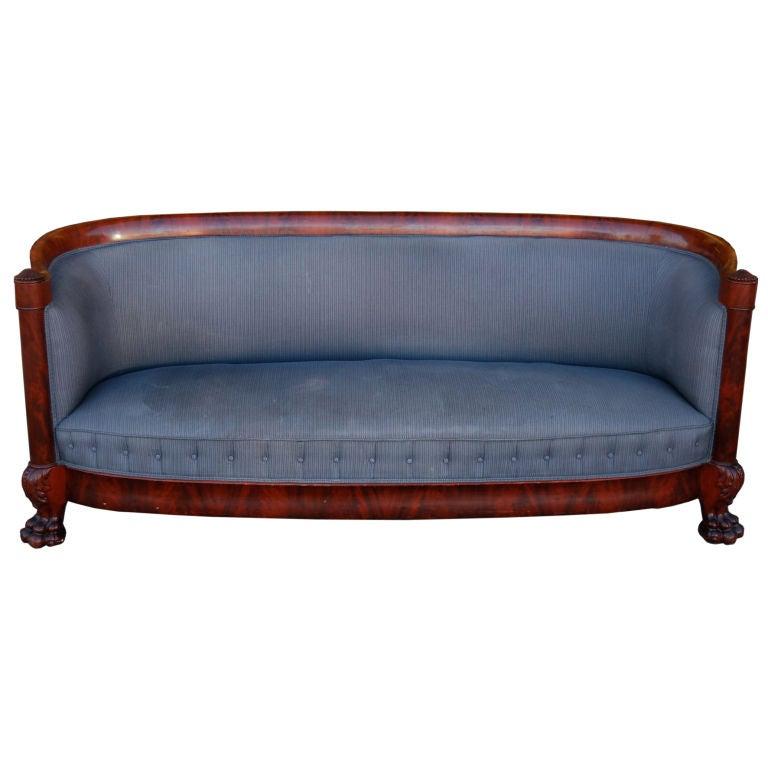 Amazing American Empire Sofa at 1stdibs