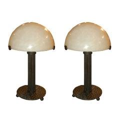 Pair of Paul Kiss Lamps