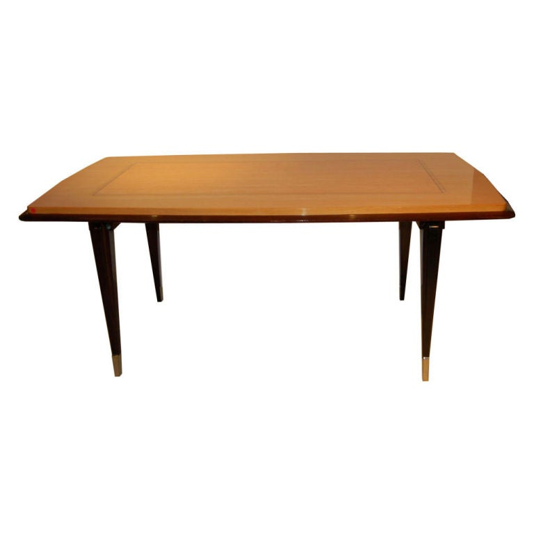 French art deco dining table at 1stdibs - Art deco dining room table ...