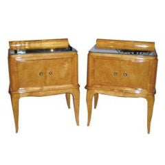 Pair of French Art Deco Nightstands