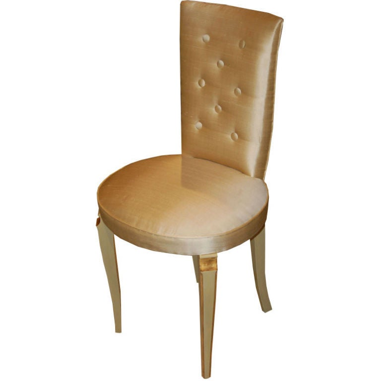 Six French Art Deco Chairs by Maurice Jallot