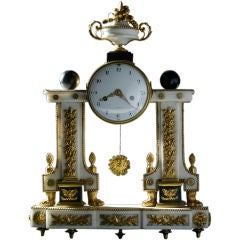 Signed French Louis XVI Mantle Clock