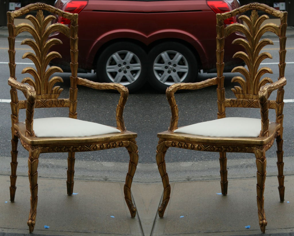 Incredible Set Of 10 Carved And Gilded Italian Dining Chairs At 1Stdibs Short Links Chair Design For Home Short Linksinfo
