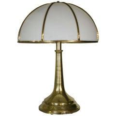Massive Spun Brass Lamp by Gabriella Crespi