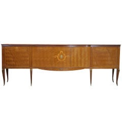 Italian Marquetry Art Deco Sideboard by Dassi