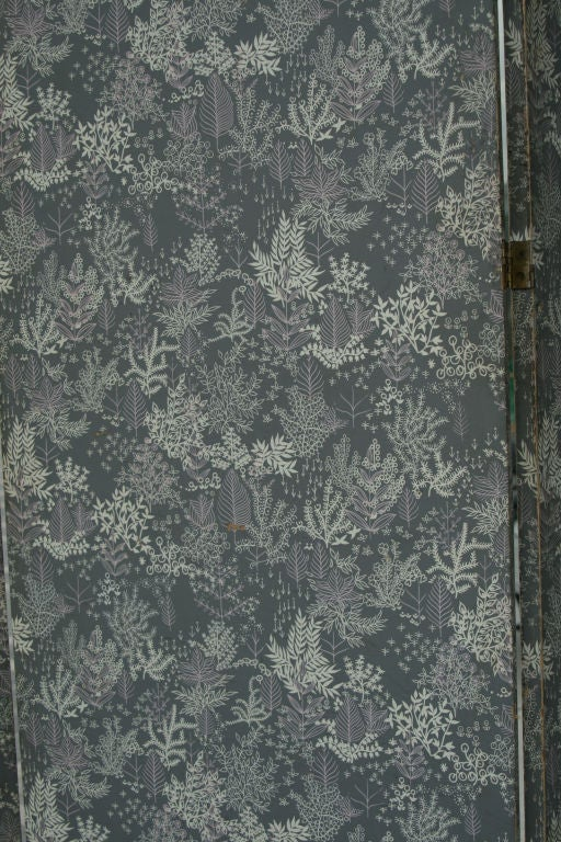 Large 1940s Italian Lithographed Wallpaper Screen 5