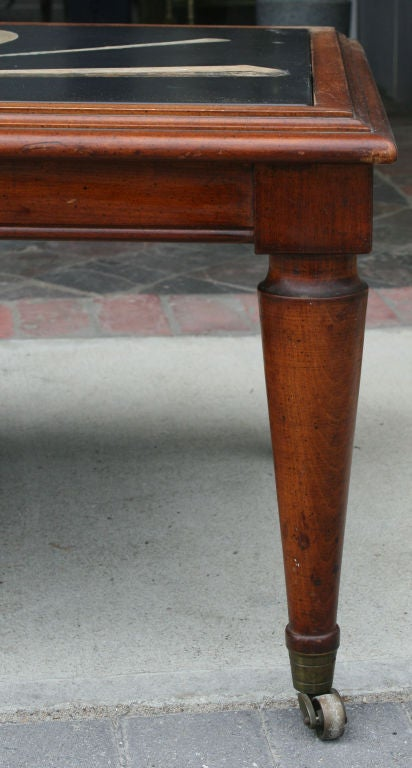 1920's Italian Slate & Inlaid Scagliola Coffee Table 4