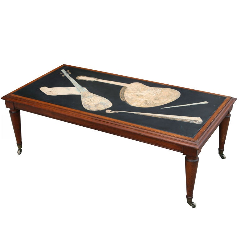 1920 39 S Italian Slate And Inlaid Scagliola Coffee Table At 1stdibs
