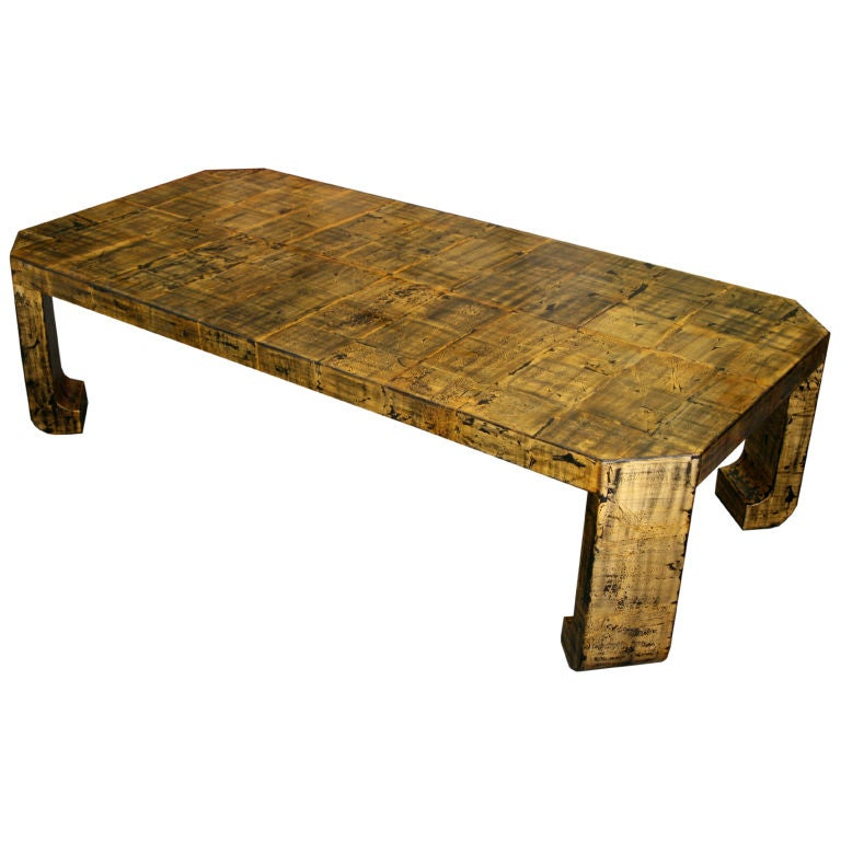 Gillded Asian Style Coffee Table At 1stdibs