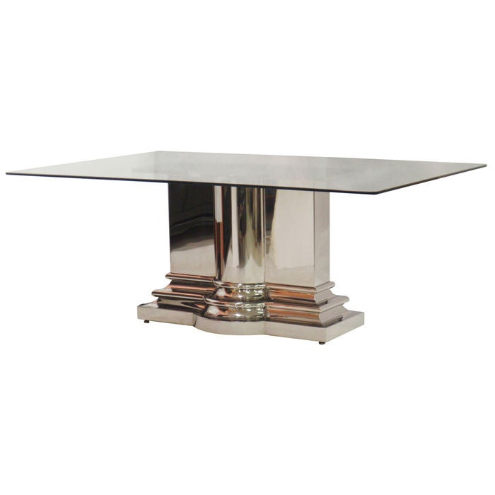 Stainless Steel Dining Table By Brueton At 1stdibs