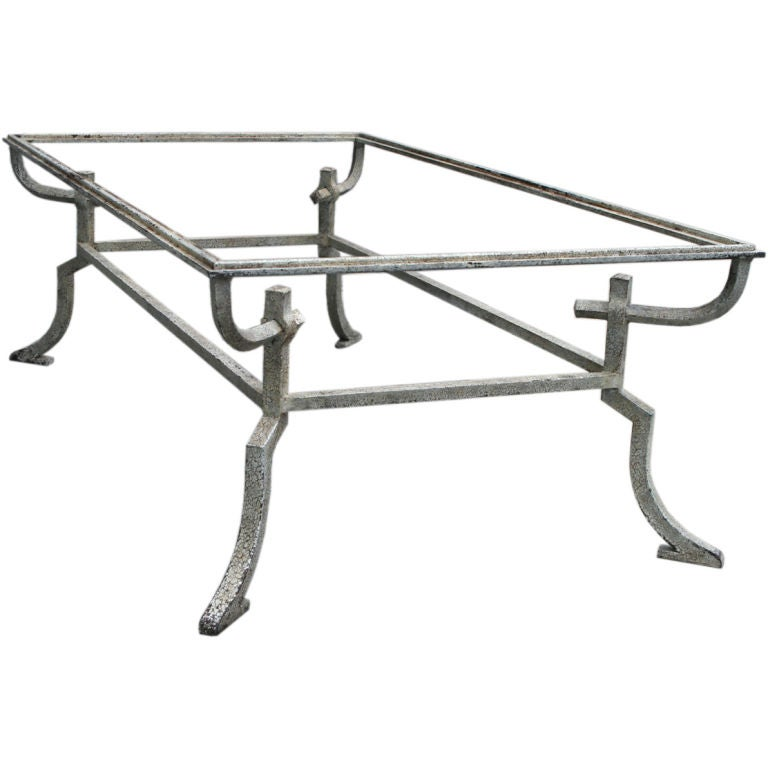 Etruscan style wrought iron coffee table at 1stdibs for Iron coffee table set
