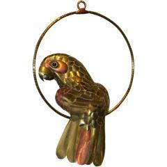Parrot Sculpture by Sergio Bustamante